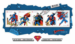 2013 Canada Superman 75th Anniversary Official First Day Cover