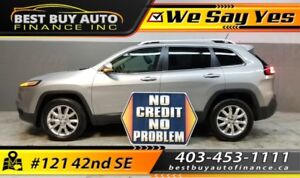 2014 Jeep Cherokee Limited 4WD, MOON ROOF, BLACK LEATHER