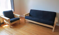 Futon and matching chair
