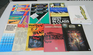 Music books for clarinet & sax students