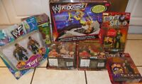 WWF 1998 1999 ACTION FIGURE LOT AND WWE RING---INCLUDES RARE DRO