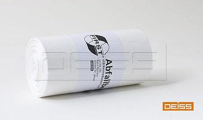 DEISS Abfallbeutel FIRST 60-80l weiß (1 Rolle = 50 Stück)
