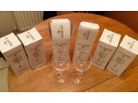 6x JP Chenet wine glasses