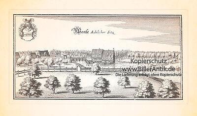 Wense adelicher Sitz Adelssitz Topographia Braunschweig Lüneburg Merian 0450