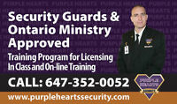 Ontario Ministry Approved Security Guard Training Course for Lic