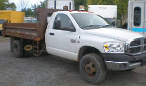 2007 DODGE 3500 Diesel Dump Truck, heavy duty
