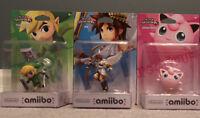 Amiibo Jigglypuff, Pit and Toon Link