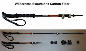 Carbon Fiber & Aluminum Alloy Extendable Ski & Hiking Poles