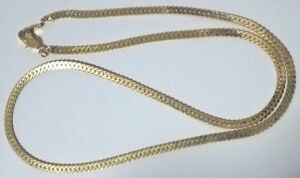 """Gold Plated Chain Necklace 18""""  Long"""