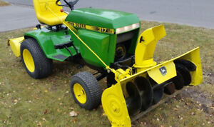 John Deere 317 with Attachments