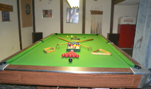 5'x10' CONCORD POOL TABLE - $2500 OBO