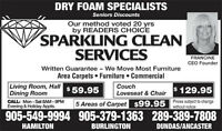 Dry Foam Carpet Cleaning Burlington, Oakville, Milton