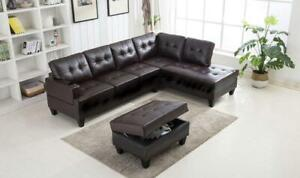 Super Easter Sale!!!   Brand New Sectional With Matching Storage Ottoman only For $799