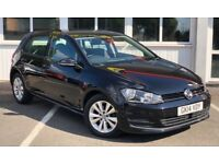 Volkswagen Golf SE TSI BLUEMOTION TECHNOLOGY DSG (black) 2014