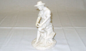 "REG JOHNSON & Sons Figurine FISHER BOY Made in England 7"" x 4"""