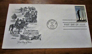 TWO 1965 Appomattox Civil War Centennial 5 Cent First Day Covers Kitchener / Waterloo Kitchener Area image 6