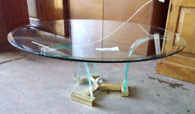 Sleek modern glass coffee table