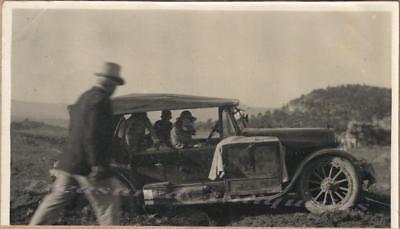 1920s Traveling Family Drive Loaded Down 1921 Hudson Super Six Touring Car Photo
