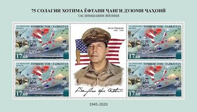 Tajikistan Military Stamps 2020 MNH WWII WW2 VJ Day Ships Victory Japan 4v MS