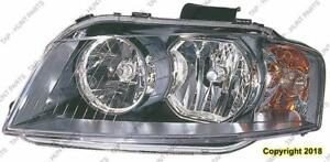 Head Light Passenger Side Halogen High Quality Audi A3 2006-2008