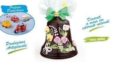 CAMPANA MEGA di Pasqua ARTIGIANALE 500gr Cioccolato al latte REGALO UOVA UOVO