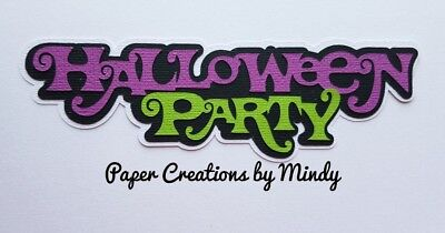 CRAFTECAFE MINDY HALLOWEEN PARTY premade paper piecing scrapbook title diecut