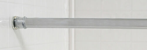 Twist Ease 41″ to 76″ Adjustable Chrome Bathroom Tub Shower Curtain Tension Rod Bath