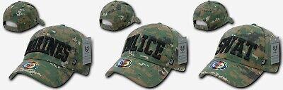 RapDom 943 - Marines Police Swat Hat - Woodland Digital Camo - USMC Cap LEO Law