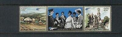 Rwanda  #469a (1972 Belgian Stamp Expo strip) VFMNH CV $6.50