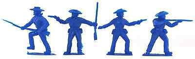 20 Timpo Recast CSA Infantry - 54mm plastic toy soldiers in blue color
