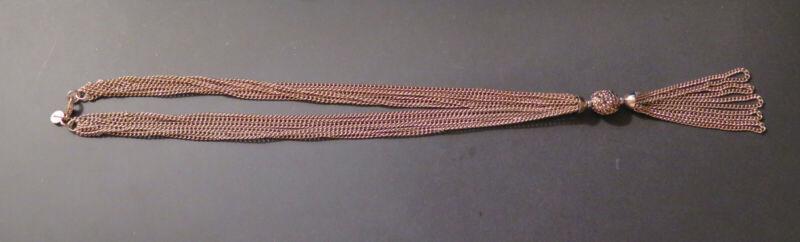 "Gold Tone Multi Strand 17"" Necklace, Pendant & Dangle Lobster catch, Gift Box"