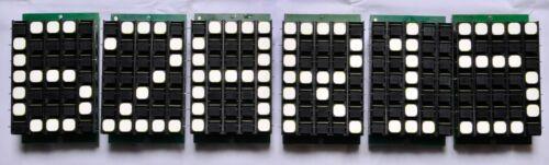6 pieces Electromagnetic flip disk display 5x7 split dot matrix