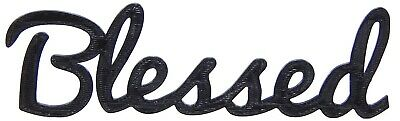 Blessed Word Art Sign Home Kitchen Decor Wall Hanging Cursive Script Typography ()