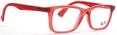 Ray-Ban Kinder Brillenfassung RB1562 3687  48mm  rot transparent 565 T26 (Ray Ban Brillen Kinder)