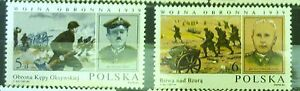 POLAND-STAMPS MNH Fi2786-87 SC2639-40 Mi2934-35 - Defensive war of 1939 -1984 - <span itemprop=availableAtOrFrom>Reda, Polska</span> - POLAND-STAMPS MNH Fi2786-87 SC2639-40 Mi2934-35 - Defensive war of 1939 -1984 - Reda, Polska