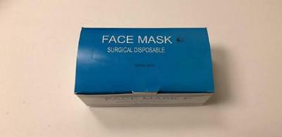 Surgical Blue Disposable 3 Layer Earloop Face Mask Anti-dust 50pcs