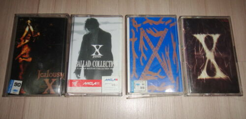 4 X JAPAN : Ballad X Single Jealousy & Blue Blood Thailand Cassette Tape Rare!