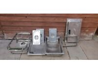 Stainless steel chafing dish set + Assorted items