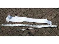 Vertical blind white rail and slats