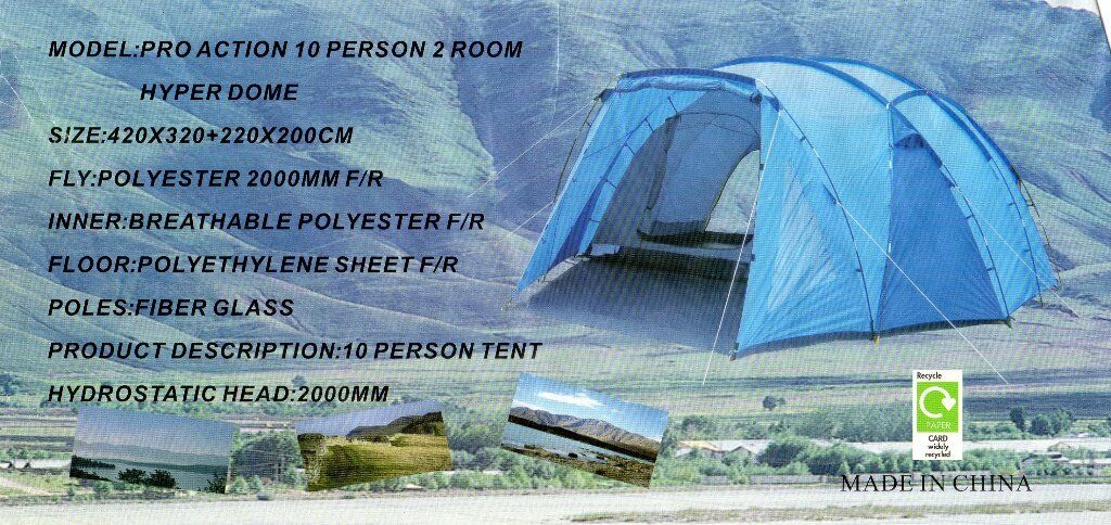 Pro Action 10 Person 2 Room Hyper Dome Tent In St Helens