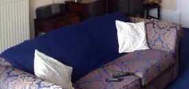 Three seater sofa (hardly used)