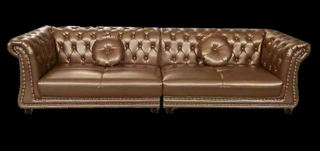 Chesterfield Sofa 10ft Lovely Leather