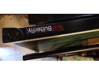 Table Tennis Table Butterfly Width: 125 cm Length: 210 cm FOLDABLE WHEELS etc
