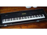 Yamaha S90 synthesizer stage piano with flightcase