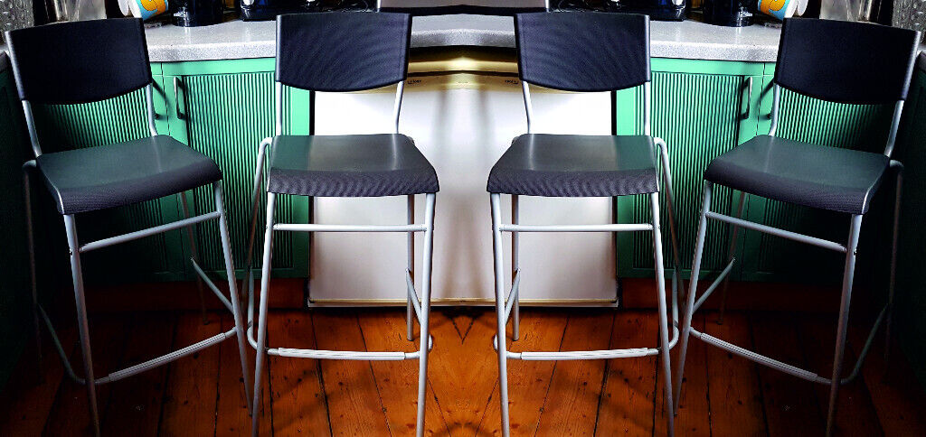 Outstanding Bar Stools X 4 Kitchen Ikea Stig Backrest Black Silver 74Cm Free Delivery 5 Miles Glasgow In Southside Glasgow Gumtree Gmtry Best Dining Table And Chair Ideas Images Gmtryco