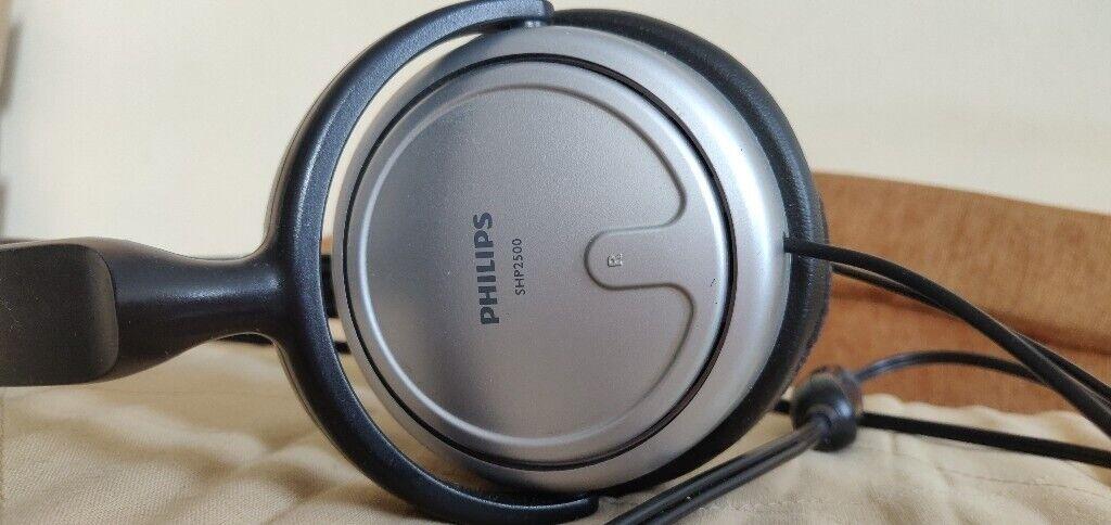 4e902f13af6 Phillips SHP2500/10 Indoor Corded TV Over-ear Headphones | in ...