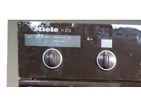 Miele H 213 integrated double oven/grill. In good condition 886mm x 595mm.