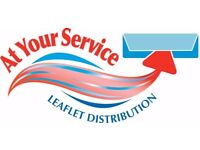 Leaflet Distributors Wanted! Flexible Hours!