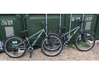 "2 x Apollo Gridlok kids mountain bikes, 24"" wheel, 12"" frame, 18 gears, suit 8-12 years approx."