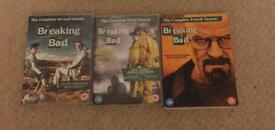 Breaking Bad DVDs - Series 2, 3 and 4